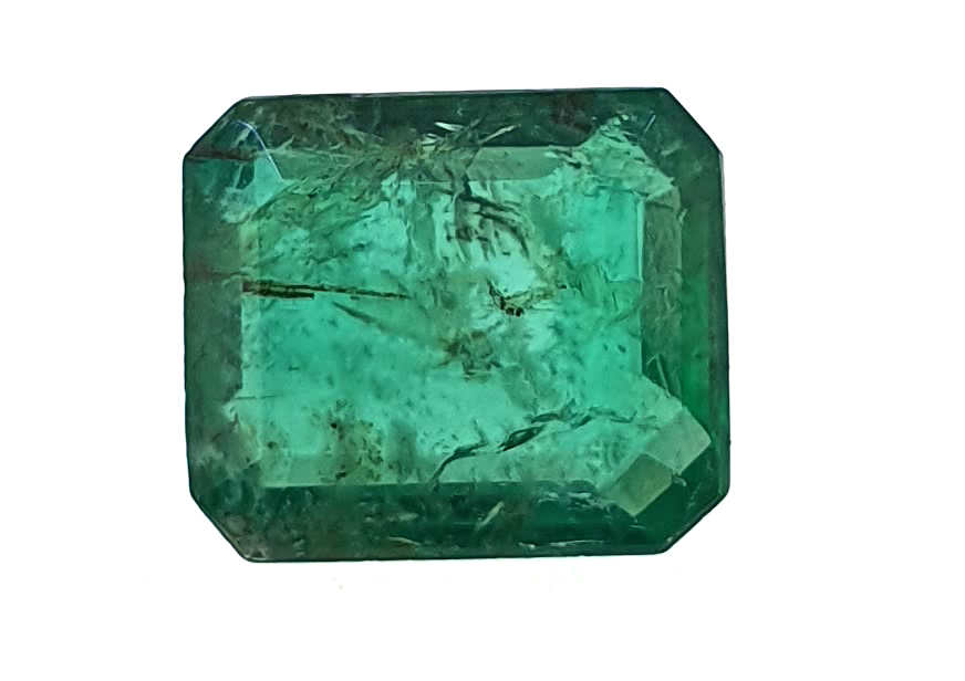 Panna or Emerald is a variety of the mineral Beryl (Be3Al2(SiO3)6), which has been colored green by trace amounts of Chromium and sometimes Vanadium. Emeralds are known by their distinctive green color and can vary from light to dark green. All emeralds contain inclusions formed during their growth. Completely clear stones are extremely rare. Inclusions indicate that the stone is natural. The most common cut is the step or emerald cut. Emerald represents Mercury and when worn, increases intelligence, education, speech, teaching, learning, communication, confidence, writing ability, trade, humor, wit, discrimination, diplomacy, intellect and commerce. Budh or Mercury is the prince of the planetary cabinet. People with Gemini and Virgo ascendants are highly benefited by wearing a coral set in a gold ring. A strong influence of Mars, Rahu and Saturn on Moon, Mercury and the fourth lord causes mental aberrations. In such cases one benefits from an emerald ring.